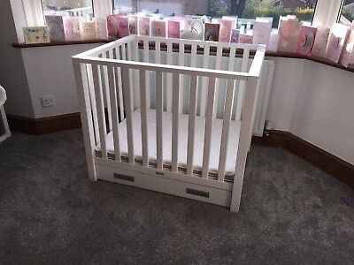 TWF White Wooden Baby Playpen - High Quality Solid Wood (Robust and Heavy Duty)
