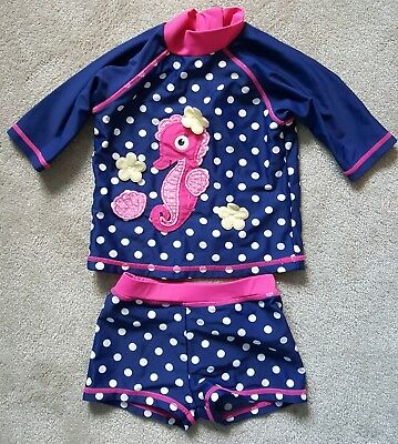 Boots Mini Club Girls Wet Suit/swimming costume set. 9 to 12 Months.