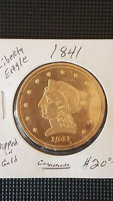 Liberty Eagle 2 1/2 dollar gold plated copy coin