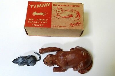 'timmy The Magnetic Mouser' - Vintage Fairylite Novelty Toy