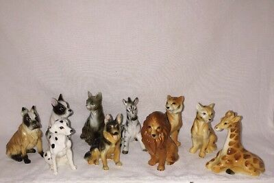Vintage Lot of 10 Ceramic Bone China Miniature Animal Figurines Our Own Import