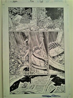 John Romita Jr Hulk original art - Hulk # 34 - After Smash!