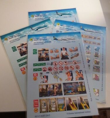 Airline safety cards