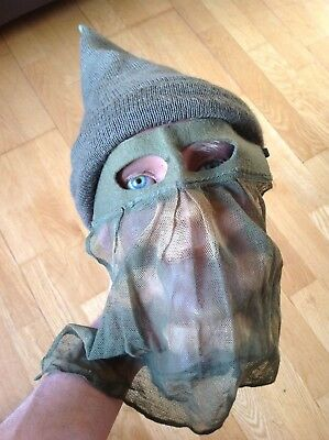 Rare Original British Or Geman Ww2 Sas Sniper Camouflaged Veil Face Mask