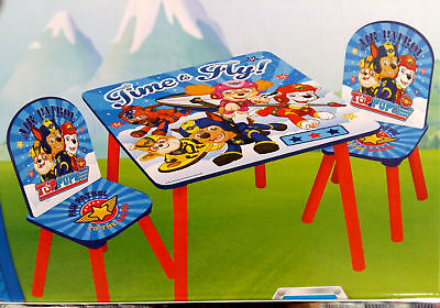 3 Pcs Set Of Paw Patrol Tables And 2 Chairs  27 x 27 x 51 cm