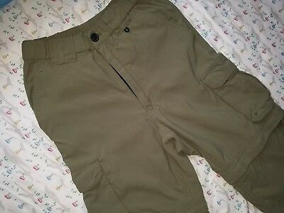 Boy Scout Switchback Pants Youth - Official Uniform BSA Green Shorts Zip Weblos
