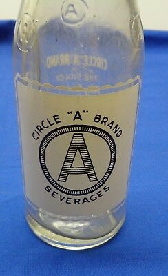 Vintage Circle A Beverage 7 O.z. Bottle - Used