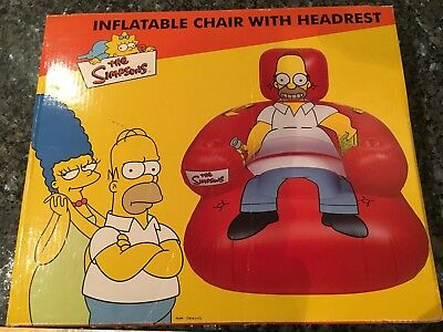 The Simpsons Inflatable Chair  With Headrest