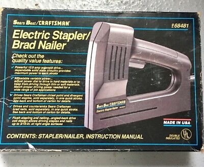 Sears Best Craftsman Electric Stapler Brad Nailer # 68481 with Staples # 74404