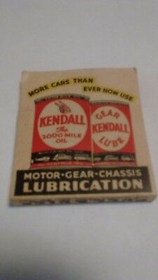 Vintage KENDALL MOTOR OIL, Chrysler, Plymouth,  PA Central Garage STICK MATCHES