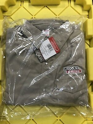 Lincoln Electric Khaki Welding Shirt/jacket XL