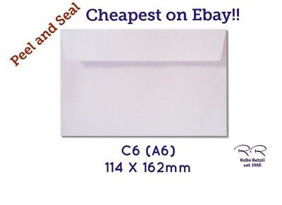 C6 Envelopes Peel And Seal Office / Card Making / Crafts / Home Office Business