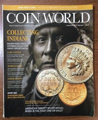 Coin World Magazine June 2017 Collecting Indians