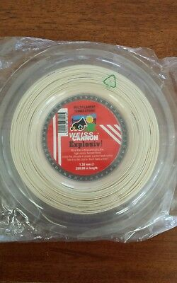 Weiss Cannon EXPLOSIV! 16 (1.30mm) Tennis String Reel 200m (660Ft) NEW
