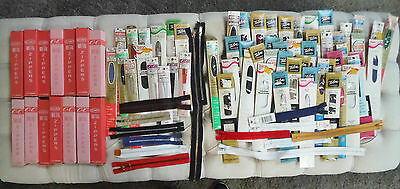 LARGE lot of 114 ZIPPERS JP Coats Metal Poly Talon Vintage – ALL NEW