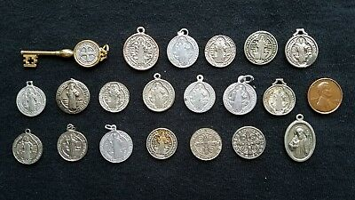 Lot of 20 St. Benedict medals vintage Catholic Saint charms holy religious