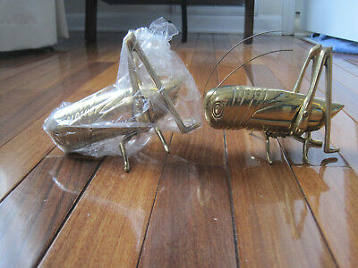 Vintage High Quality Solid Pair of Brass Crickets Shiny New Beautiful