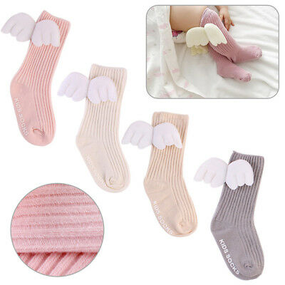 Fashion 1 Pair Girls Ladies Ankle High Socks With Angel WingS Childrens Baby