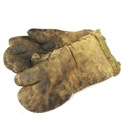 Ww2 Us Army Air Forces / Usaaf Type A-9A Flight Mittens Gloves Tan Shearling
