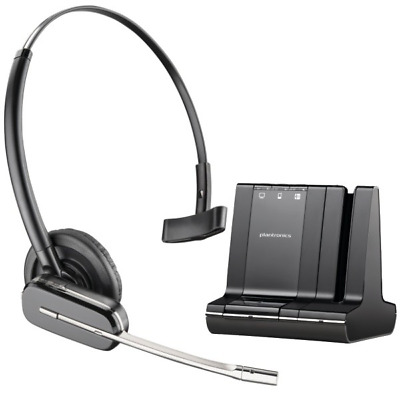 Plantronics Savi W745 Cordless Headset WO2A Bluetooth Over the Head Mount