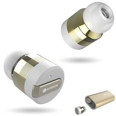 NEW Rowkin Bit Charge:Stereo Wireless Bluetooth Earbuds 24K Gold-plated Edition
