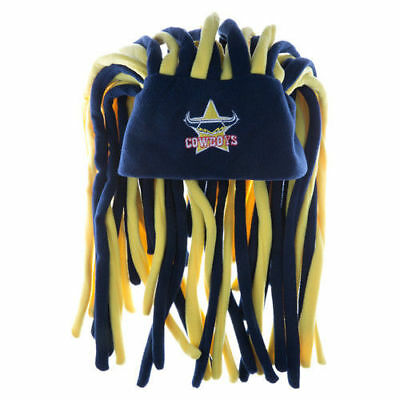 COWBOYS NRL DREADLOCK NOVELTY FUN HAT- New Official Licensed Product