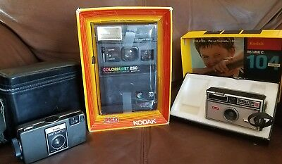 Kodak Camera Lot with NEW Kodak Colorburst 250