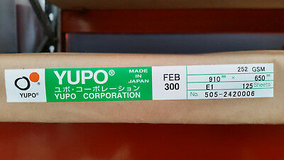 Yupo FEB 300 - 252 GSM (300 micron) Synthetic Paper 10 sheets 650mmx455mm