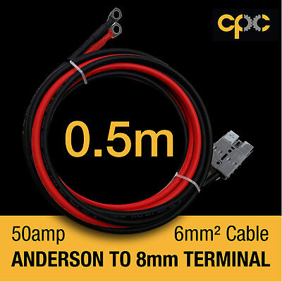 50A Anderson Plug type Battery Ring Terminal Cable lead AMP Lug 12v 4x4 solar AH