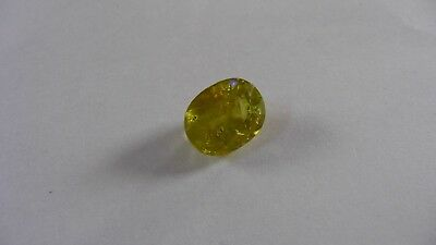 6.7 ct oval Green Yellow Sphene Titanite gem, Madagascar (oge red flash) REDUCED
