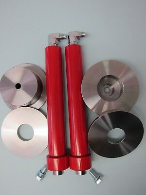 "Lowrider hi performance cylinders 6"", 1/2"" port, red, deep cups donuts & elbows"