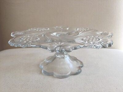 Vintage / Antique Depression Glass Cake Stand Perfect Condition