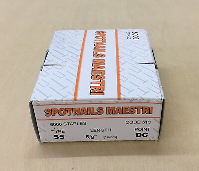 1 x Box of Spotnails Maestri 5/8'' Staples/ Type 55 /16 mm Staples/Flooring Tool