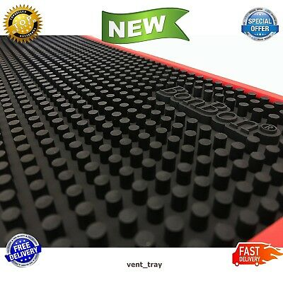 """Black Mat Bar Rubber Service 12"""" X 18"""" Spill Drink Vodka Beer Table Cover New"""