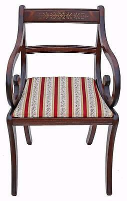 Antique reproduction Georgian mahogany desk office elbow chair carver
