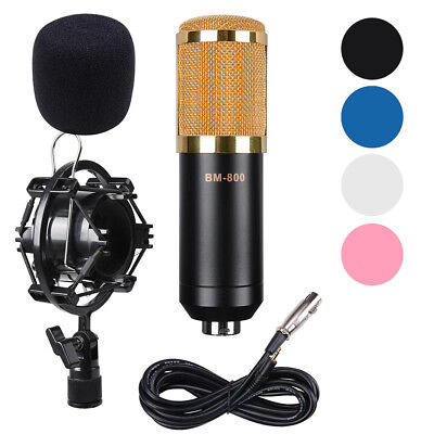 BM800 Condenser Microphone Mic Audio Studio Sound Recording Dynamic Shock Mount
