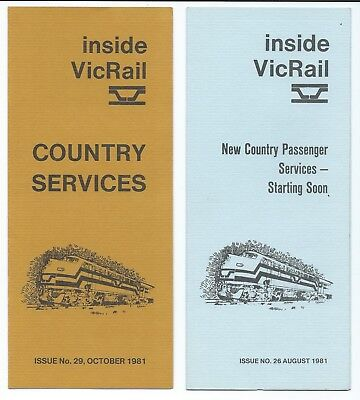 2 VicRail New Pass Services Pamphlets 1981