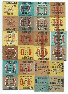 12 Different VICTORIAN Country Return Tickets