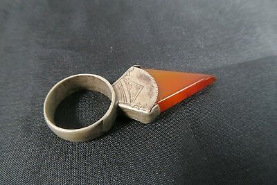 Alter Ring Anhänger mit Achat Tuareg Old ring Agate pendant Touareg Afrozip