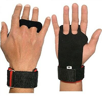 Crossfit Grips Leather Palm Protectors Hand Guards Wod Gym Glove Pull Up Lift Fs