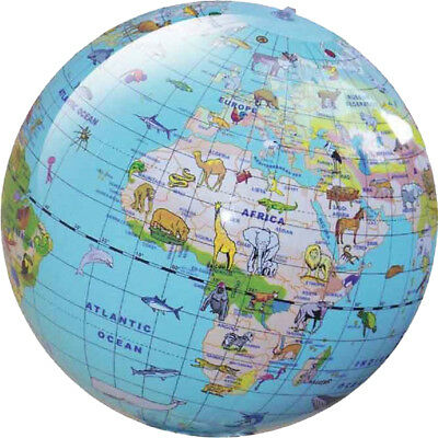 Brainstorm Kids Educational Toys Geographic Earth Inflatable Animal Globe 30cm