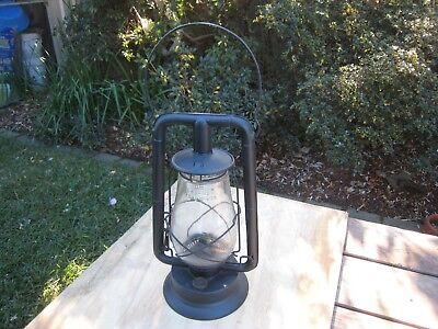 Old Vintage Dietz Royal Lantern Lamp With Embossed Glass USA Patd 12-4-23
