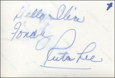 Ruta Lee - Inscribed Photograph Signed