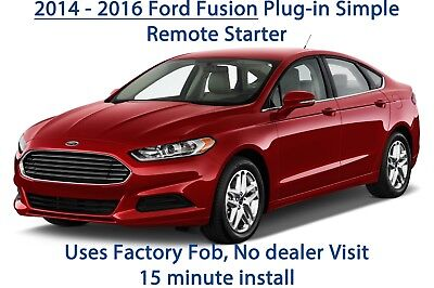 2014, 2015, 2016 Ford Fusion Plug & Play Remote Starter. DIY 15 Minute install