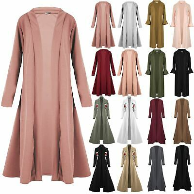 New Waterfall Baggy Women Cardigan Maxi Floaty Ladies Open Trench Coat Plus Size
