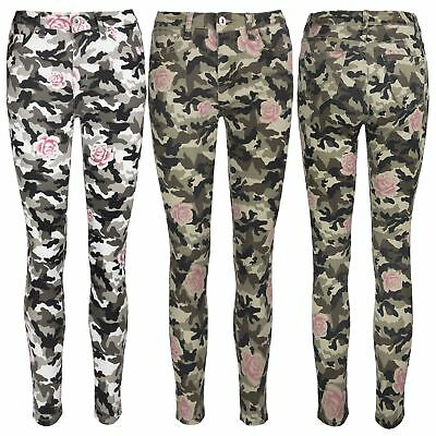Womens Ladies Floral Rose Printed Turn Up Trousers Summer Beach Trouser Pants