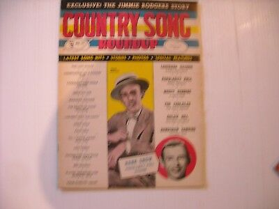 Country Song Roundup Magazine Vol. 1 No. 25 August 1953 Jimmie Rodgers Cover!