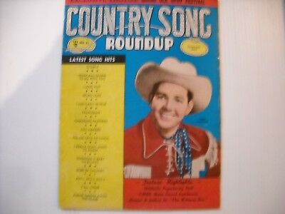 Country Song Roundup Magazine Vol. 1 No. 31 May 1954 Hank Thompson Cover!