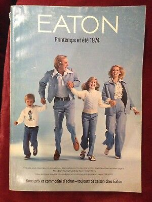 Vintage Eaton's Spring and Summer / Printemps + Été 1974 Catalog French Rare
