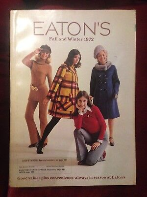 Vintage Eaton's Fall and Winter 1972 Catalog Rare